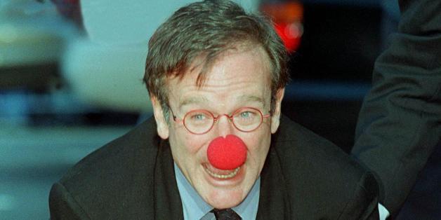 Academy Award-winning actor Robin Williams wears a